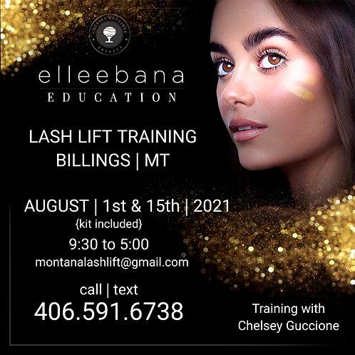 August 1st '21 Elleebana Lash Lift Education