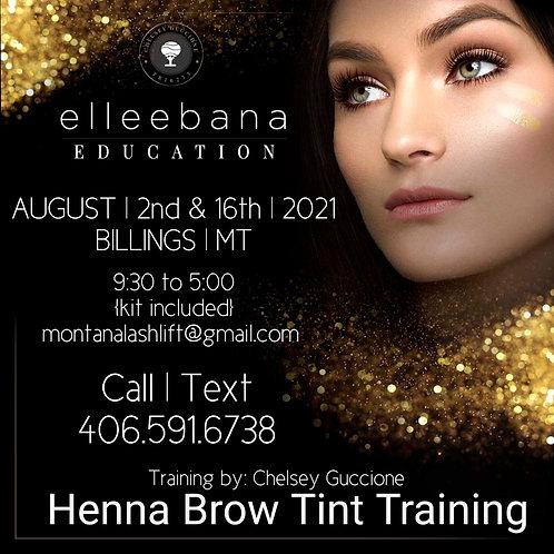 August 2nd '21 Elleebana Henna Brow Education
