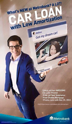 Justin Quirino for Metrobank's ads.