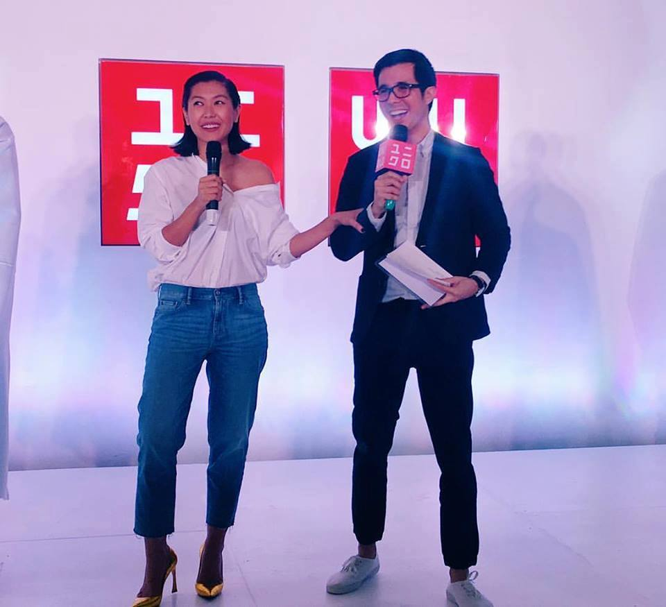 Justin Quirino hosting for the Uniqlo New Jugger Launch