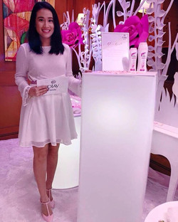 Karla hosting the Olay Event