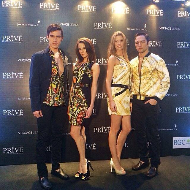 Leading Edge Models for Versace Jeans Event
