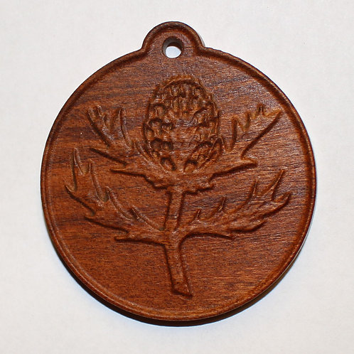 Thistle Pendant, Cherry Wood