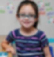 A student at Patti's Preschool in Huntington Beach