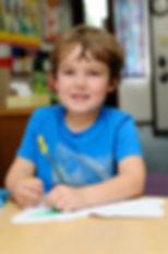 Boy ready to learn at Patti's Preschool