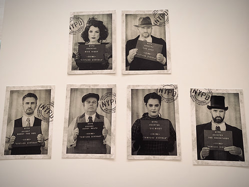 Mugshot Postcards - set of 6