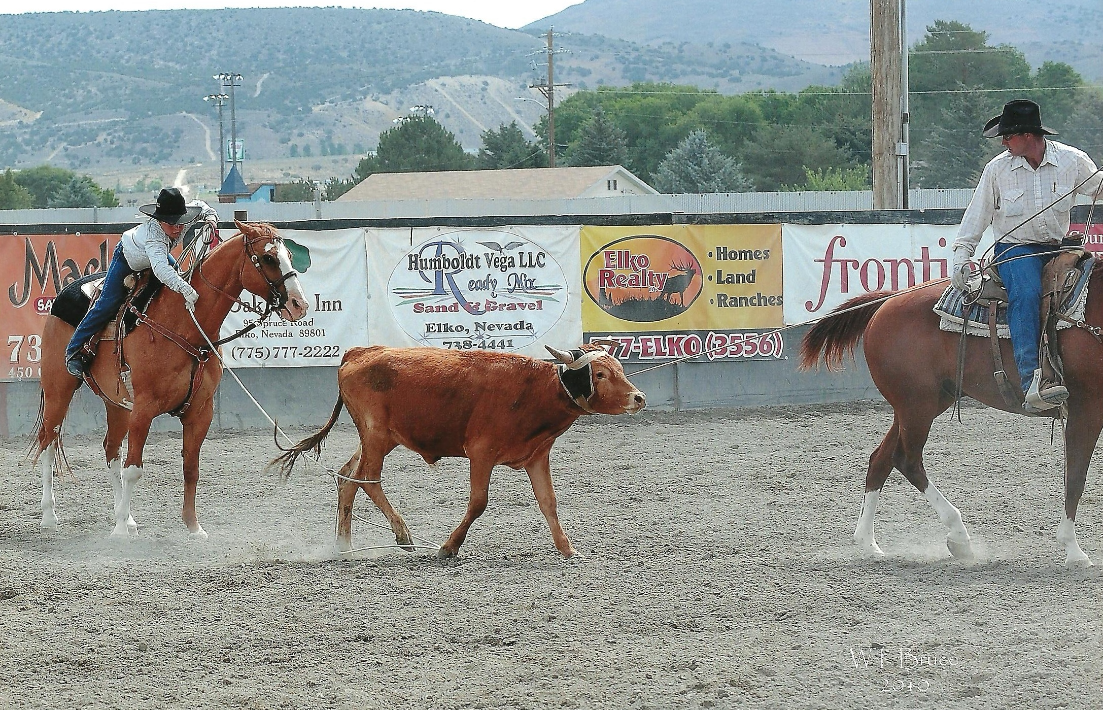 Jake Team Roping with Jess
