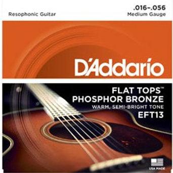 EFT13 | D'ADDARIO FLAT TOPS RESOPHONIC GUITAR STRINGS 16-56
