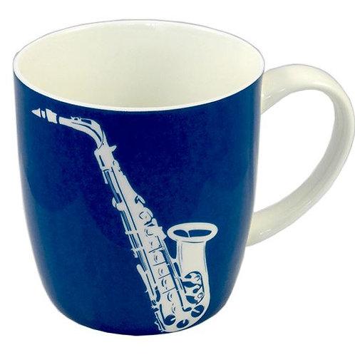 263324F | Chinaware | Mug | Musical themed Bone China | Saxophone