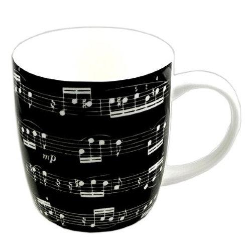 263264M | Chinaware | Mug | Musical themed Bone China | Sonata Black