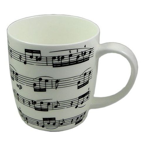 263263V | Chinaware | Mug | Musical themed Bone China | Arpeggio White