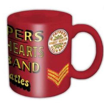 271281C   Beatles Boxed Mug Sgt Pepper Logo