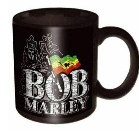BML | Mug | Bob Marley Mug Distressed Logo