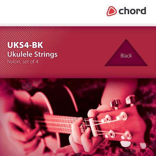 173.17   Ukulele Strings   Clear / Black Nylon