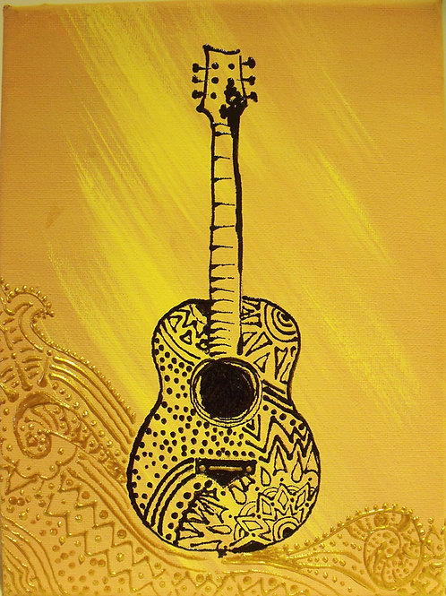 Painting - Acoustic Guitar - 20017.7
