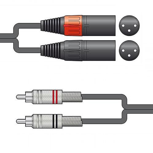 190.0 | Audio Lead | 2 x RCA Plugs - 2 x XLR Male