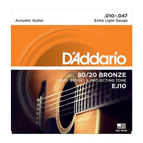 EJ | D'addario 80/20 Bronze Acoustic Guitar Strings