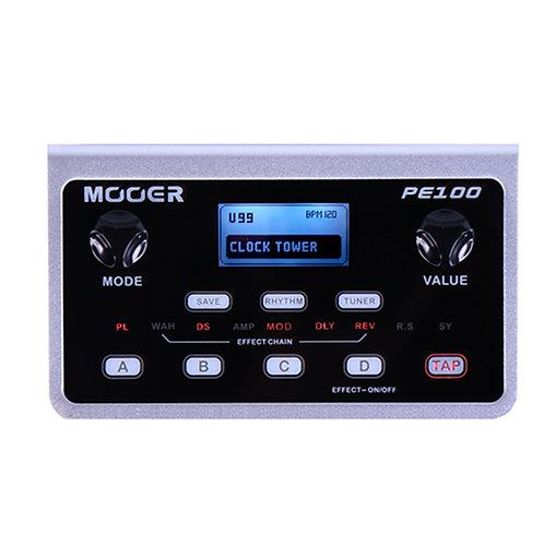 PE100 | MOOER PORTABLE GUITAR MULTI-EFFECTS PE100