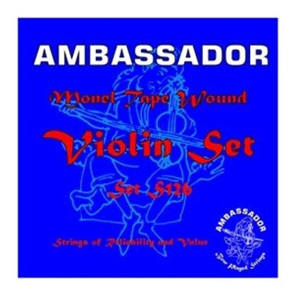 S126 | Ambassador Monel Tape Wound Violin Strings Set