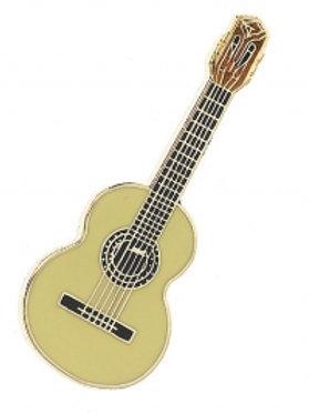 229891E   Pin Badge   Classical Guitar Design