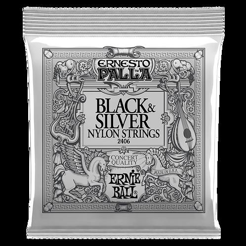 2406 | ERNESTO PALLA BLACK & SILVER NYLON CLASSICAL GUITAR STRINGS