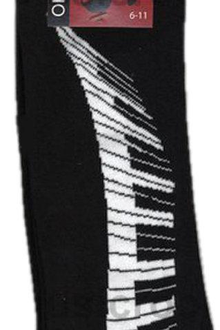 230225N | Socks | Keyboard Swirl Black | The Tie Studio London