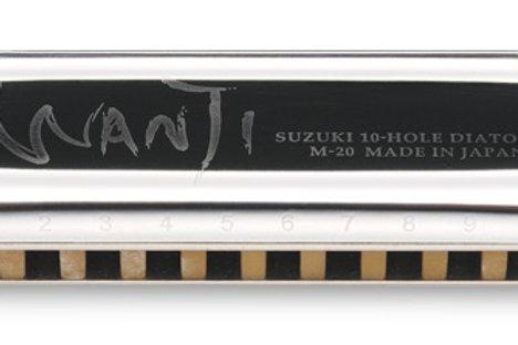 Suzuki Manji 10-hole Major Diatonic Harmonica Key of C