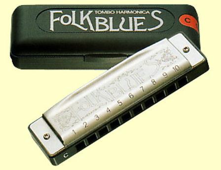 Tombo Folk Blues 10-Hole Major Diatonic Harmonica Key of C