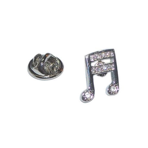 276508Y   Lapel Pin Badge   Pin Badge Musical Note Crystal Encrusted