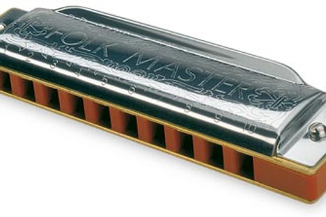 Suzuki Folk Master 10-hole Major Diatonic Harmonica Key of G