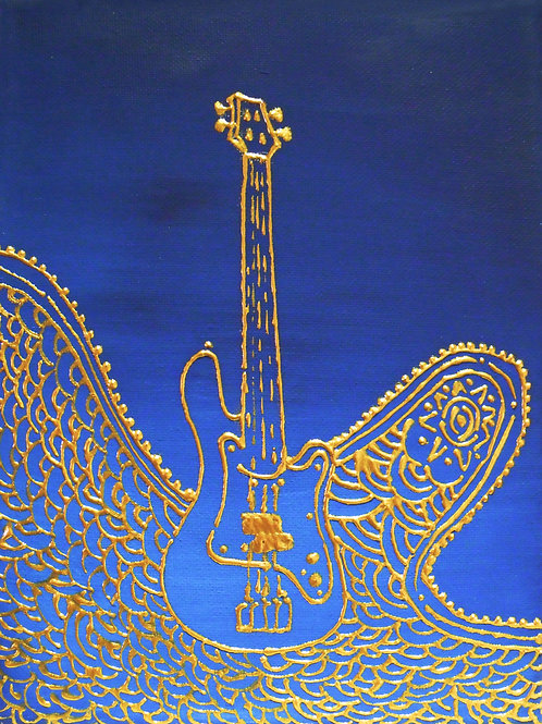 Painting - Electric Bass - 20017.1