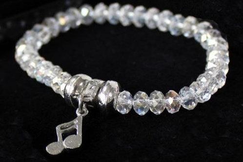 256242Y   Bracelet   Luna London Pewter Crystal