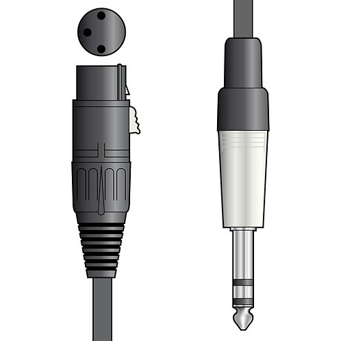 190.2 | Audio Leads | XLR Female - 6.3mm TRS Jack Plug