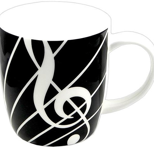 263262C | Chinaware | Mug | Musical themed Bone China | Sonata Black