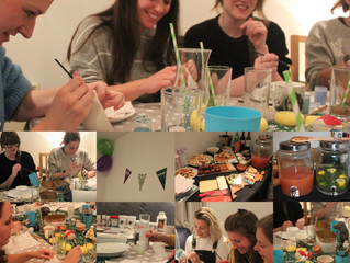 Cocktails and Pottery Painting Party fundraising for Macmillan Cancer Support