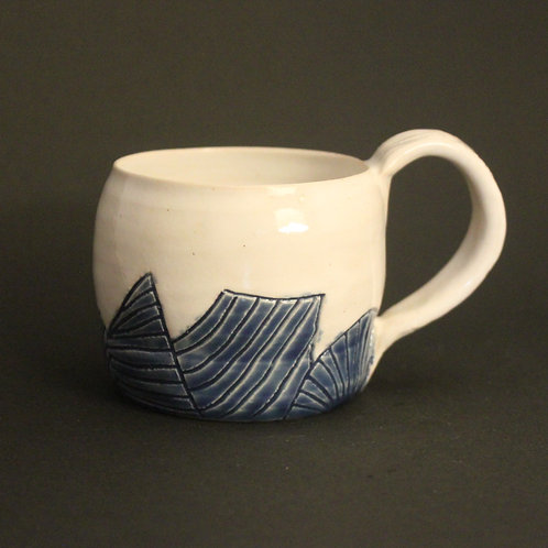 Small Incised mug with cobalt blue glaze