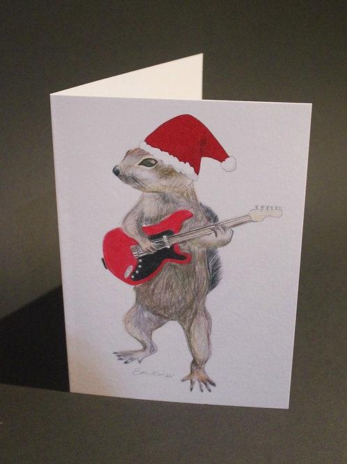 Squirrel Christmas Card