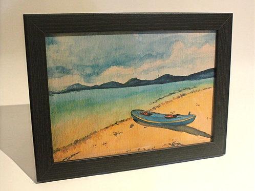 Canoe by the Sea Art Print