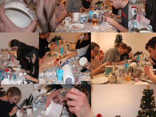 Christmas themed Pottery Painting Party!