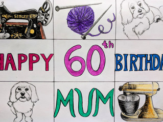 New Commission - Personalized Birthday Card & Drawing