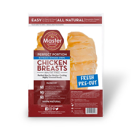 Frozen Chicken Breast Skinless Strips 500g