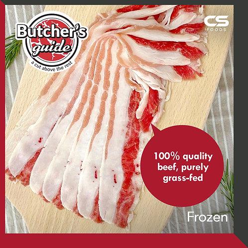 Butcher's Guide USDA Choice Grade Shortplate Shabu Shabu