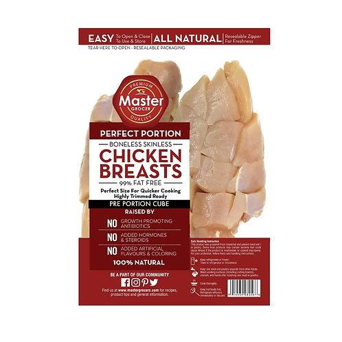 Chicken Breast Skinless Cube 1kg