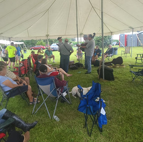 Sterling Bluegrass playing under the tent after a rain storm. Huge thanks to them sticking through and playing!