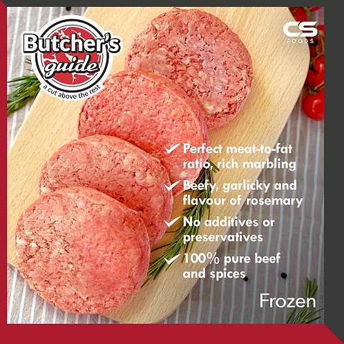 Butcher's Guide Beef Patty