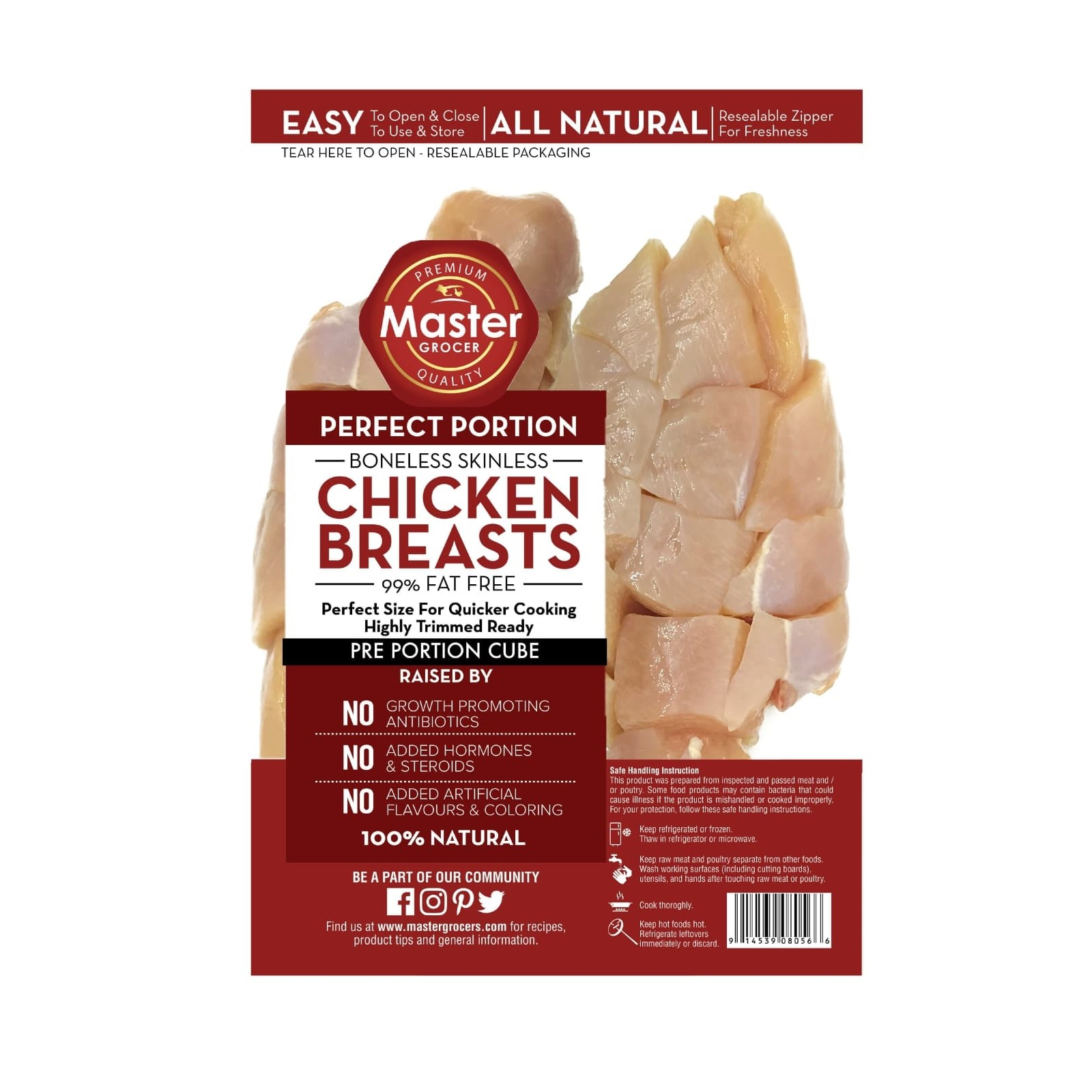 Chicken Breast Cube 500g