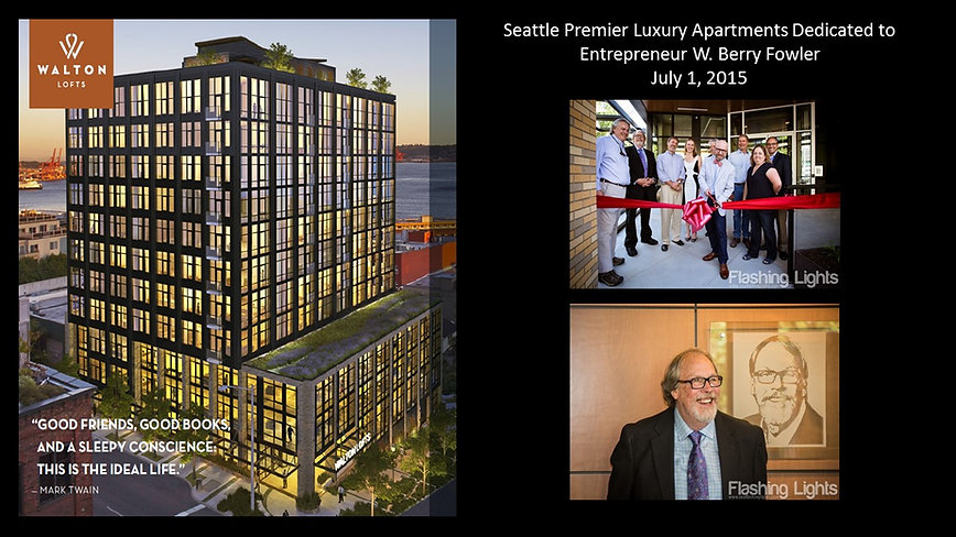 Berry Fowler honored with luxury apartment in Seattle named after him