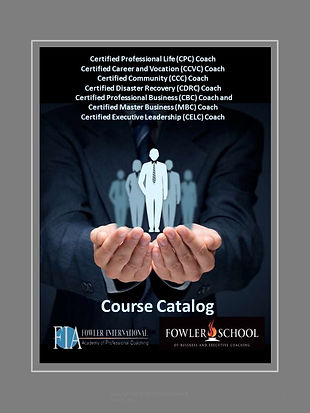 Cover Fowler International Course Catalo