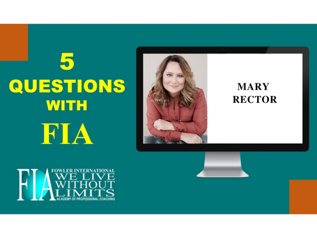 5 Questions with FIA featuring Coach Mary Rector