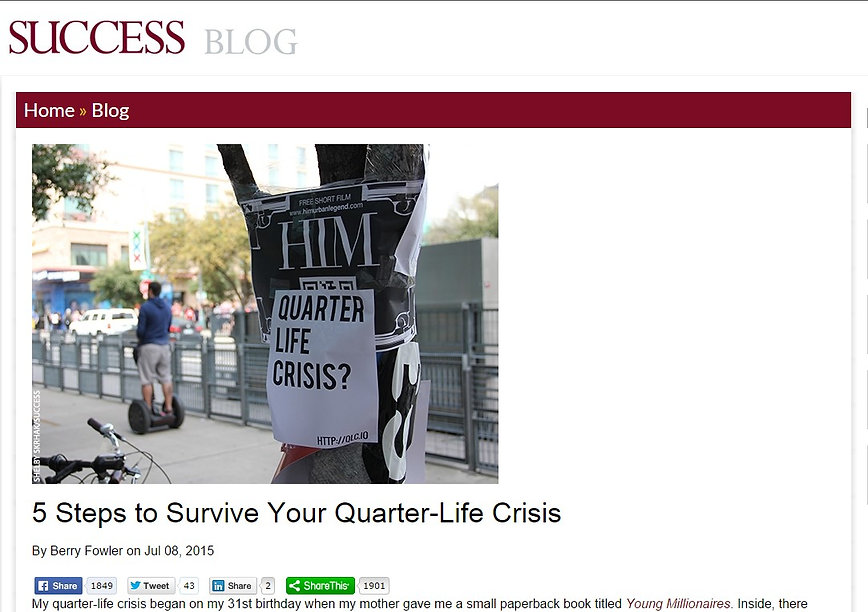 Berry Fowler article 5 Steps to Srvive Your Quarter Life Crisis